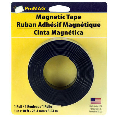Magna Card ProMAG Heavy-Duty Magnetic Tape, 1in. x 10ft.