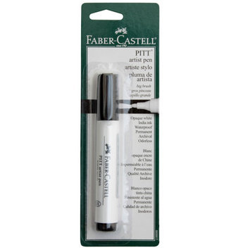 PITT Big Brush Artist Pen, White by Faber-Castell
