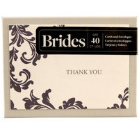 Wedding BRIDES Purple Ivory Thank You