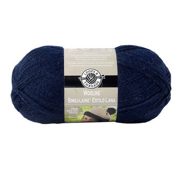 Woolike Yarn Yarn, 3.5 oz in Navy Blue by Loops & Threads