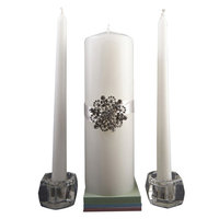 Wedding Occasions Unity Candle Set with Brooch by Celebrate It