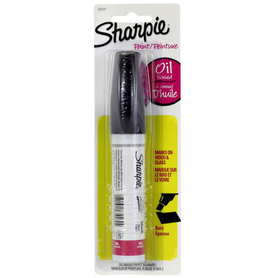 Oil-Based Paint Marker, Bold Point, 2 in Black by Sharpie