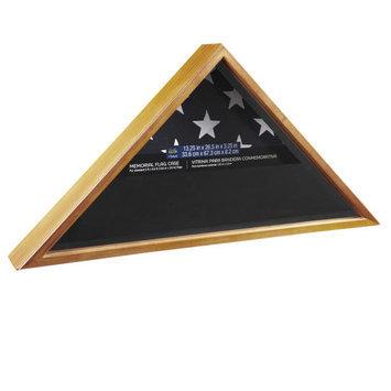 Memorial Flag Case, Brown in Oak by Studio Decor