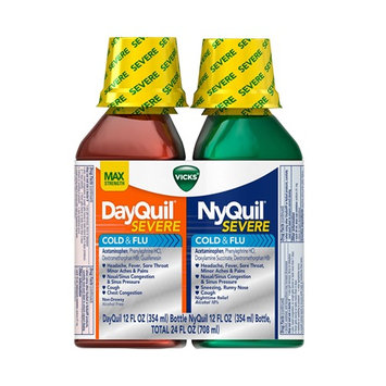 DayQuil™/NyQuil™ SEVERE Cold & Flu Relief Liquid Co-Pack