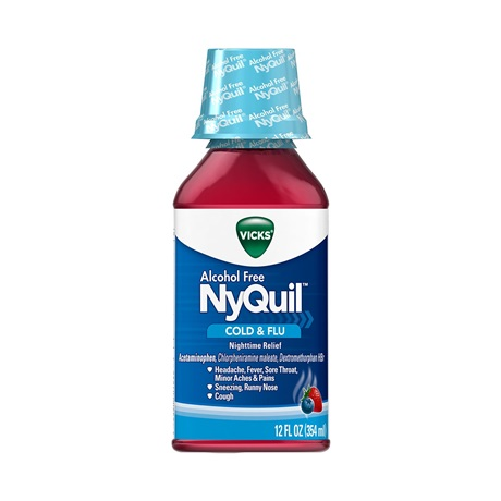 NyQuil™ Alcohol-Free Cold & Flu Nighttime Relief Liquid