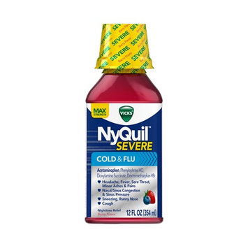 NyQuil™ SEVERE Berry Cold & Flu Relief Liquid