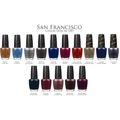 OPI Nail Lacquer San Francisco Collection