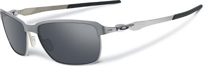 Oakley Men's Tinfoil OO4083-02 Silver Rectangle Sunglasses