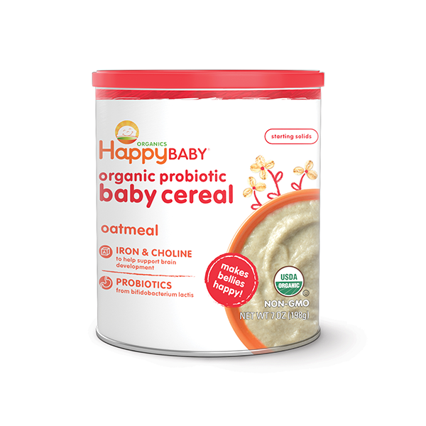 Happy Baby® Organics Oatmeal Probiotic Cereal Reviews 2019