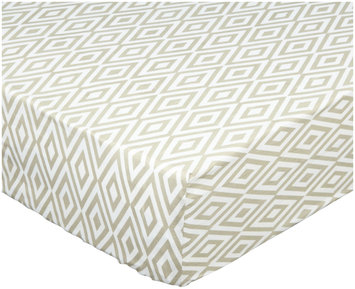 Oliver B Diamond Crib Sheet - Sandy Grey/White