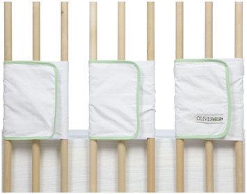 Oliver B Velcro Ventilated Slat Bumper - White/Mint