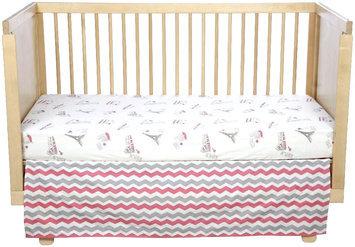 Oliver B City of Dreams 2-Piece Crib Bedding Set- Pink/Grey/White