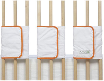 Oliver B Velcro Ventilated Slat Bumper 20-Pack -White/Orange