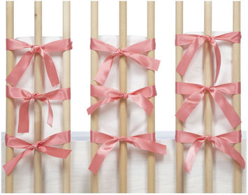 Oliver B Ventilated Slat Bumpers 20-Pack - White/ Pink - 1 ct.