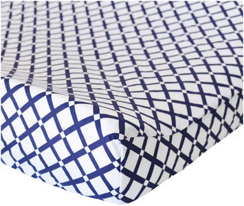 Oliver B Print Changing Pad Cover (White)