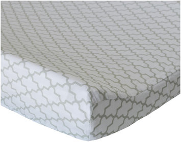 Oliver B Dove Grey Trellis Cotton Changing Pad Cover