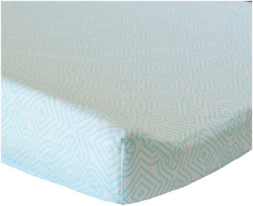 Oliver B Sea Green Stems Cotton Changing Pad Cover