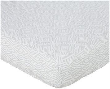 Oliver B Crib Sheet - Dove Grey Stems
