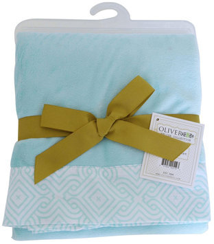 Oliver B Minky Stroller Blanket in Sea Green