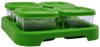 green sprouts by i play Baby Food Storage Cubes - Glass 4 Pk
