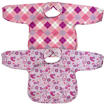 green sprouts by i play Best Long Sleeve Waterproof Bib - Lavender