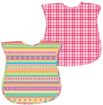 Green Sprouts By I Play. 2-Pk. Plaid And Stripes Waterproof Bibs