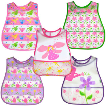 green sprouts by i play. Scenic Eva Bib - Girl - 12-24 mo - 5 Pk - 1 ct.