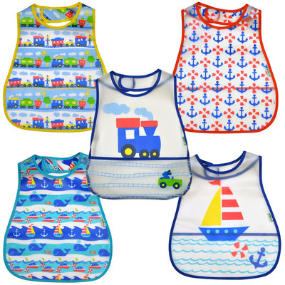 green sprouts by i play. Scenic Eva Bib - Boy - 12-24 mo - 5 Pk - 1 ct.