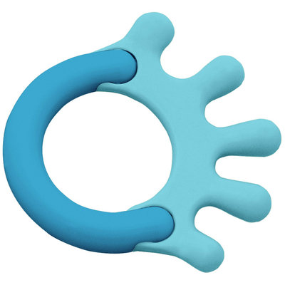 Green Sprouts By I Play Cornstarch Hand Teether - Aqua - 1 ct.