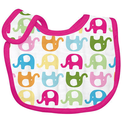 green sprouts by I play. Brights Organic Muslin Bib - Elephant Print - 1 ct.