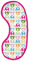 green sprouts by I play. Brights Organic Muslin Burp Pads - Elephant Print - 1 ct.