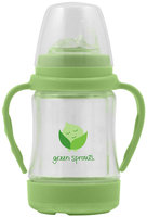 green sprouts by I play - Glass Sip 'n Straw Cup - Lime - 1 ct.