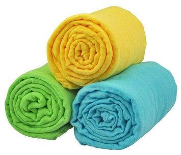 i play Brights Organic Muslin Blanket 3pc Gift Set- Multi