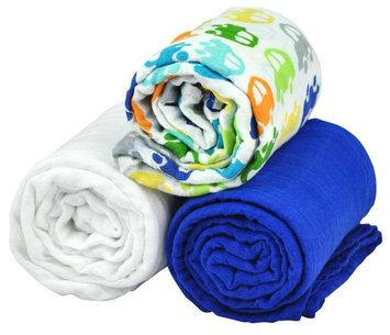 i play Brights Organic Muslin Blanket 3pc Gift Set- Car Print - One Size