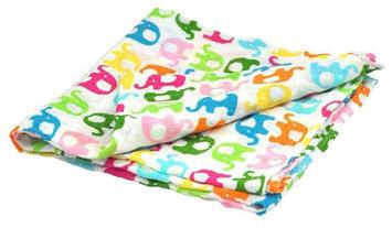 i play Brights Organic Muslin Swaddle Blanket- Elephant- One Size