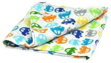 i play Brights Organic Muslin Swaddle Blanket- Car- One Size