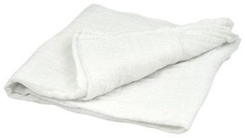 i play Brights Organic Muslin Swaddle Blanket- White- One Size