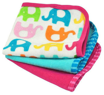 green sprouts by i play. Brights Organic Terry Washcloth 3pk - Fuchsia