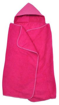 green sprouts by i play. Brights Organic Terry Hooded Towel - Fuchsia