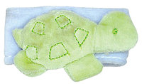 green sprouts by i play Organic Velour Wrist Rattle - Turtle