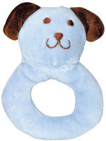 green sprouts by i play Organic Velour Ring Rattle - Cornflower Dog