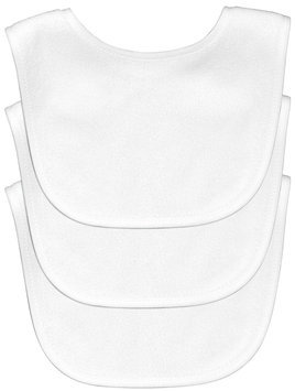 green sprouts® by i play.® Stage 1 White Terry Bibs (Package of 3)