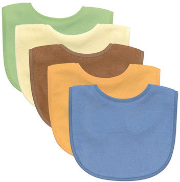I Play green sprouts Fashion Waterproof Absorbent Bib 5 Pack (Boy)