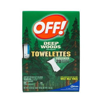 OFF! Deep Woods Unscented Towelettes Insect Repellent