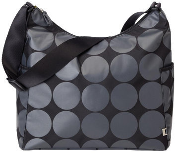 OiOi Diaper Bag Hobo Charcoal Dot with Lime Lining