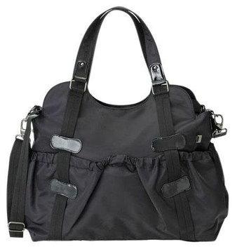 Oi Oi Tote Diaper Bag (Black Twill Runche/Patent Trim/OiOi Jacquard Lining)