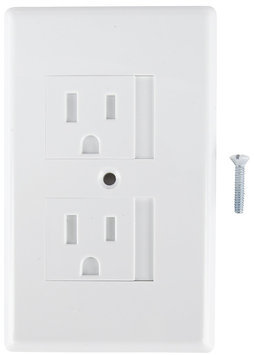 Mommy's Helper Safe Plate Automatic Outlet Safety Cover - White