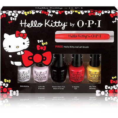 OPI Mini Nail Lacquer 5 Piece Hello Kitty Friend Set