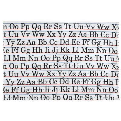 SugarBooger by O.R.E. Tabletop Splat Mat Vintage Alphabet