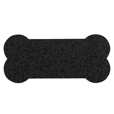 ORE Pet Recycled Rubber Skinny Bone Placemat - Black